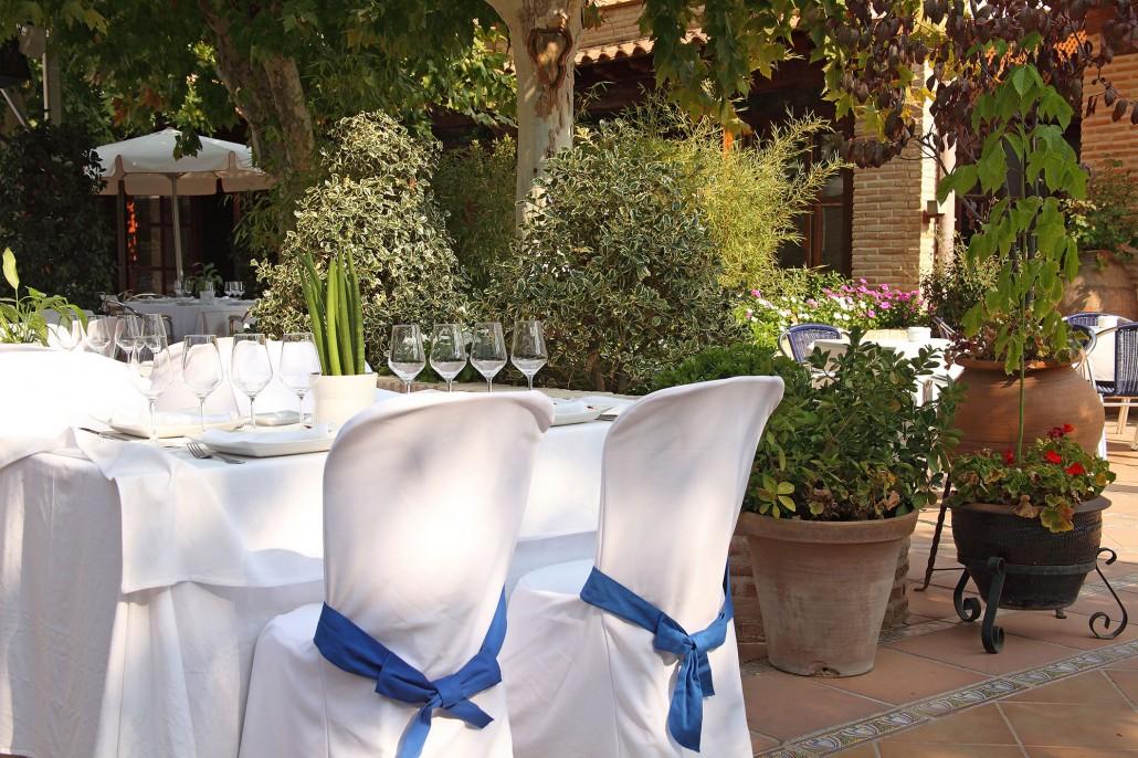 Jardín para bodas en Toledo