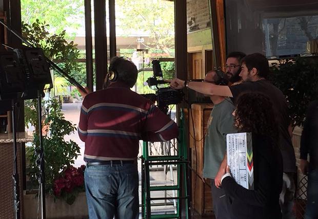 Equipo de cine en Toledo