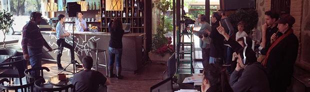 Rodaje de corto de cine en el Restaurante de Toledo Venta de Aires