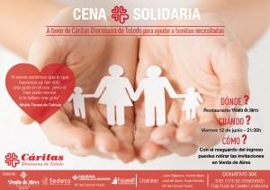Cartel Cena benéfica y solidaria en Venta de Aires. Toledo
