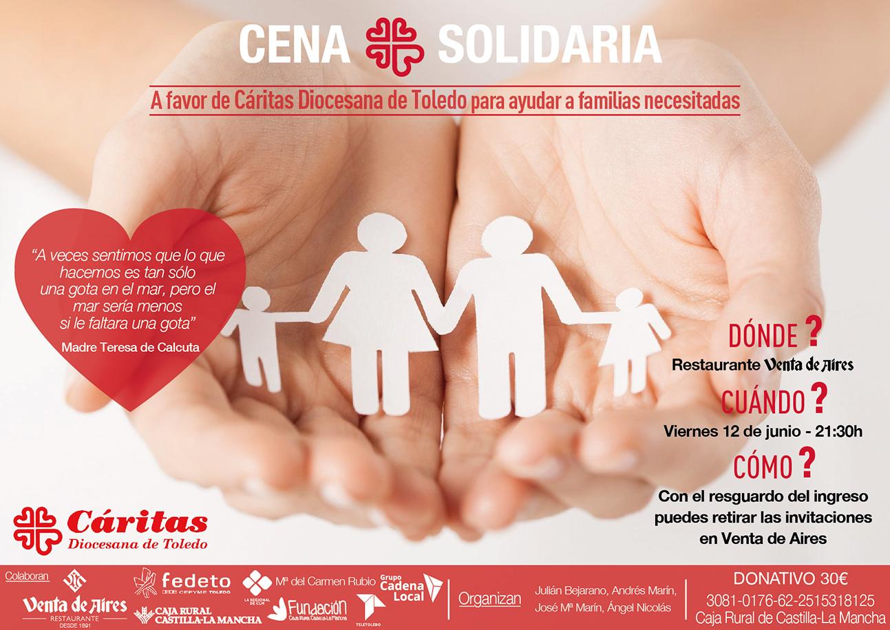 Cena solidaria de Cáritas en Toledo