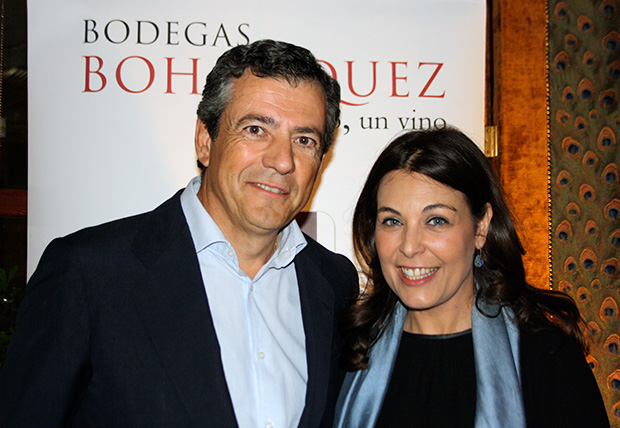 Javier Bohórquez con la Gerente de Venta de Aires, Cuca Díaz de la Cuerda