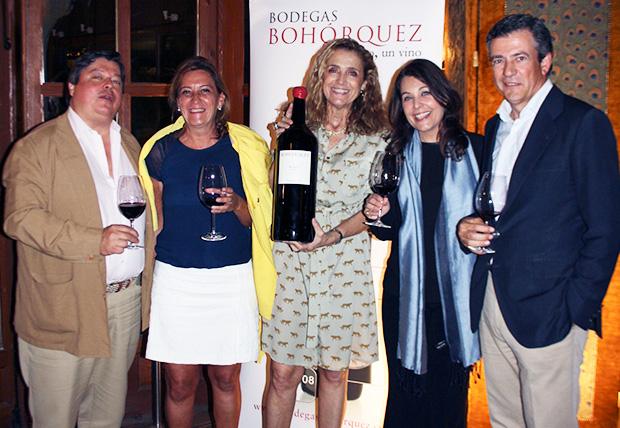 Luis Roca de Togores, Valle Martín, Lali Pascual, Cuca Díaz de la Cuerda y Javier Bohórquez