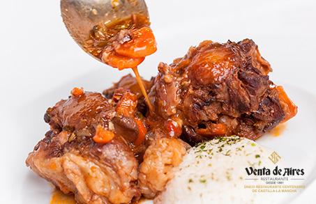 Comer asado en Toledo. Restaurante Asador Venta de Aires