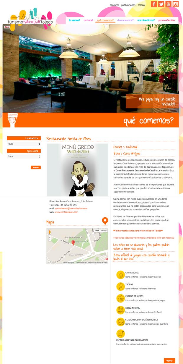 Turismo familiar en Toledo. Restaurante Venta de Aires