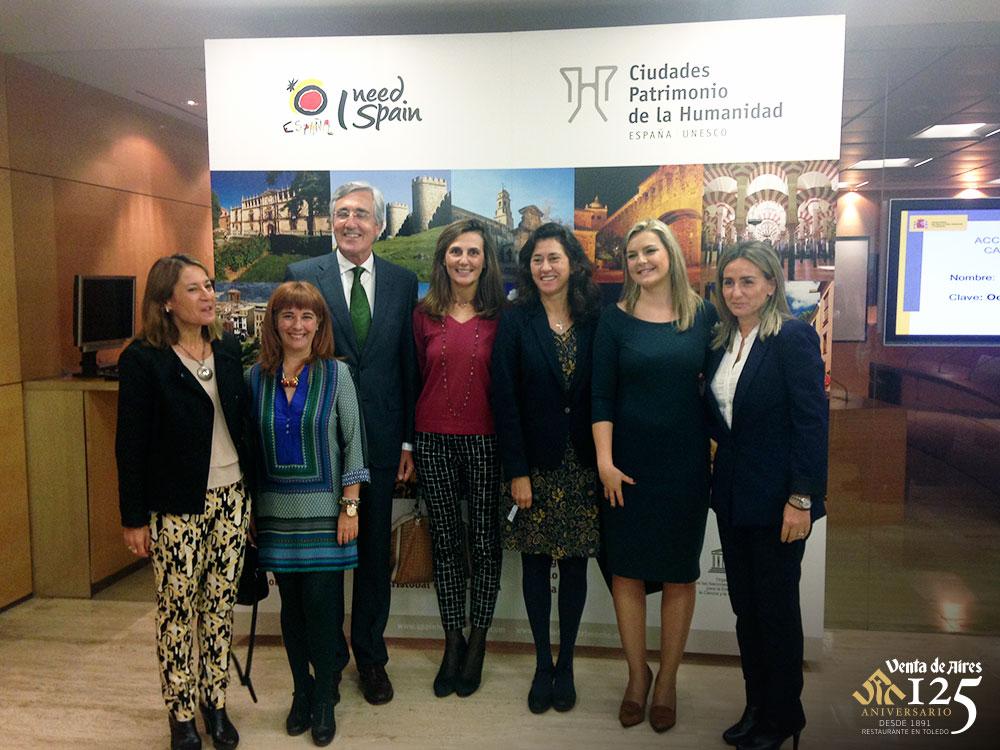 Milagros Tolón representa a Toledo en la presentación del vídeo Ciudades Patrimonio. Venta de Aires