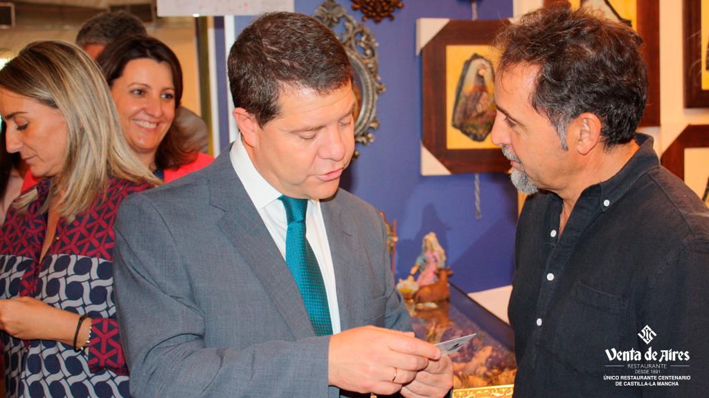 Presidente García Page en Farcama 2015 Toledo. Venta de Aires