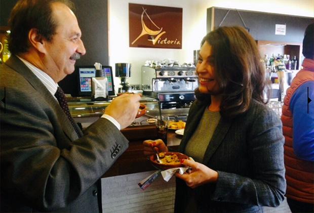 Alfonso Silva y Cuca Díaz de la Cuerda en la Jornada de la Tapa de Toledo