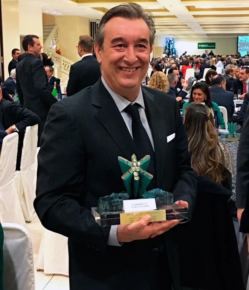 José Luis Humanes de Toledo. Restaurante Venta de AIres. Premio Fedeto a la mejor empresa