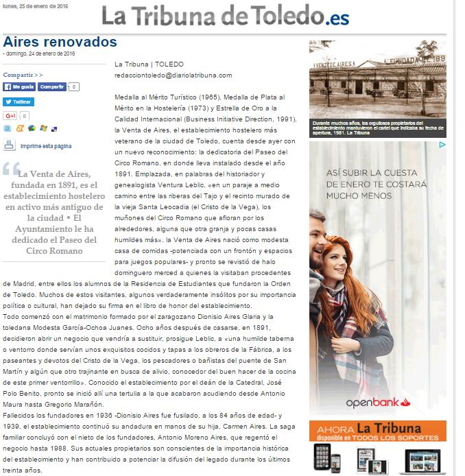 Reconocimientos Venta de Aires