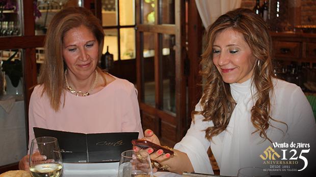 Rosi Martinez y Maite Villaplana. Restaurante Venta de Aires Toledo