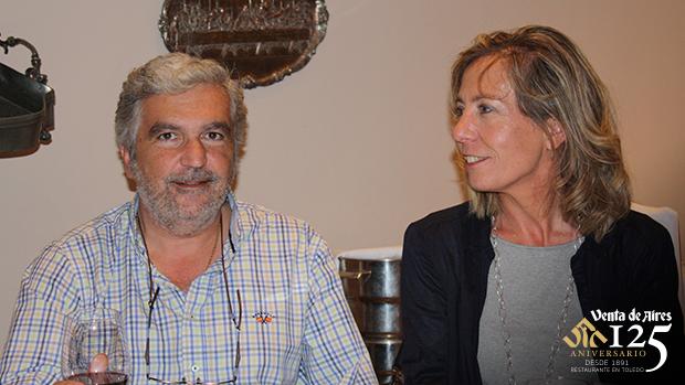 Verónica López Scala y Alejandro en Restaurante Venta de Aires
