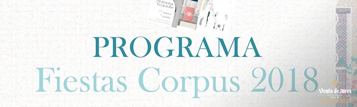 Programa Semana Grande del Corpus Christi 2018