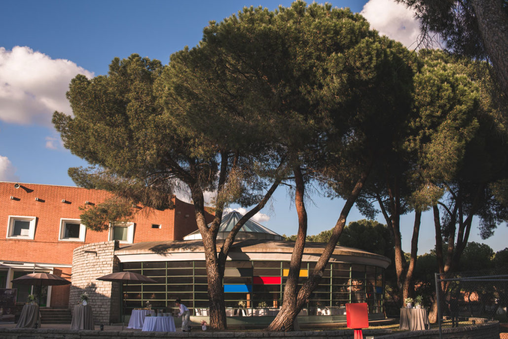 Catering al aire libre en el Instituto Eduardo Torroja