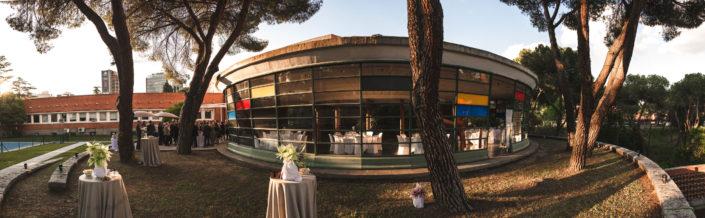 Catering en el jardín del Instituto Eduardo Torroja
