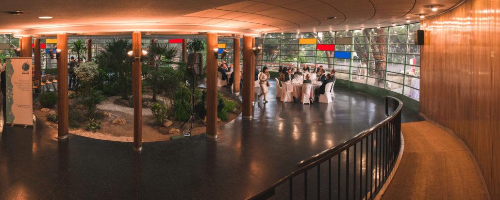 Cena en el salón del Instituto Eduardo Torroja organizada por el CSIC