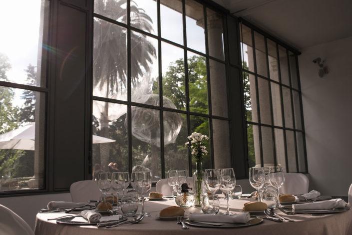 Mesa en el catering del Jardín Botánico