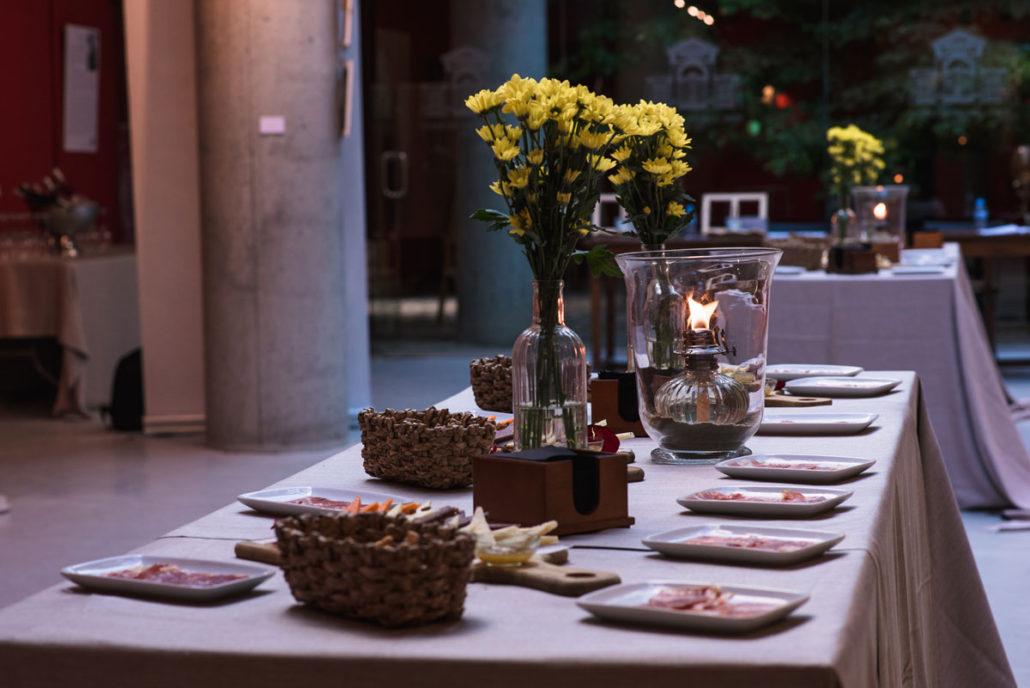 Detalle del Catering en el Jardín Botánico