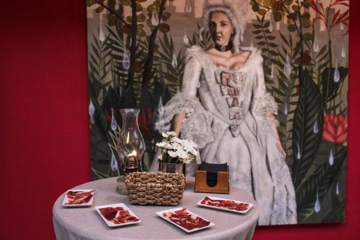 Detalle del coctel de bienvenida en el Catering en el Jardín Botánico