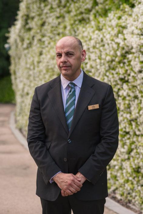 Maitre del servicio de Catering en el Jardín Botánico