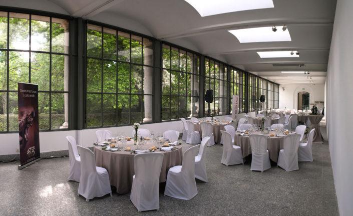 Mesas en el Catering en el Jardín Botánico