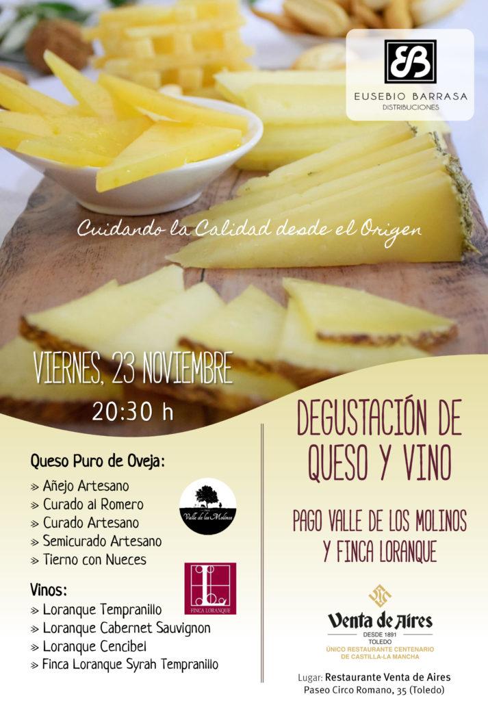 Cata de vinos y degustacion de quesos en Toledo