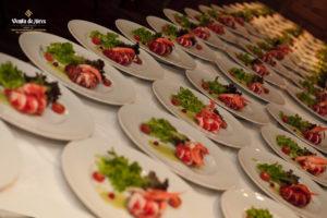 Mini degustación de nuestros platos de boda en Venta de Aires